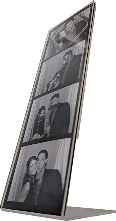 Amazon Com 50 Photo Booth Nook 2x6 Slanted Acrylic Picture Frames Plastic Photobooth Strip Holder Stand Design Table Top Style Frame For Wedding Grad Party Baby Shower Display Vertical Everything Else