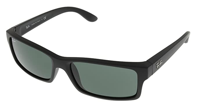 769b8b272dd Image Unavailable. Image not available for. Colour  Ray Ban Sunglasses Mens  Black Rubber RB4151 622