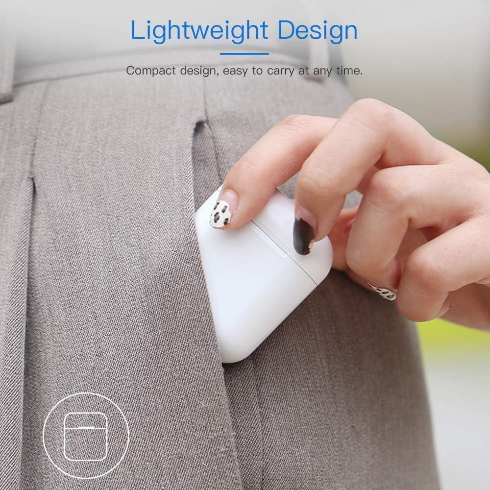 Bluetooth 5.0 /Écouteurs TWS Mini i12 St/ér/éo 3D Sound Secure Fit Touch Control Casques sans Fil IPX7 /Étanche pour Les Exercice de Travail Jumelage Automatique Blanc
