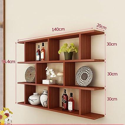 . Amazon com  WAN SAN QIAN  Creative Wall Mount Bookshelf Living Room