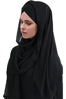 SAFIYA Hijab pour femmes musulmanes voilées I Foulard voile turban écharpe  pashmina châle islamique I Coton ... c3921db7bad