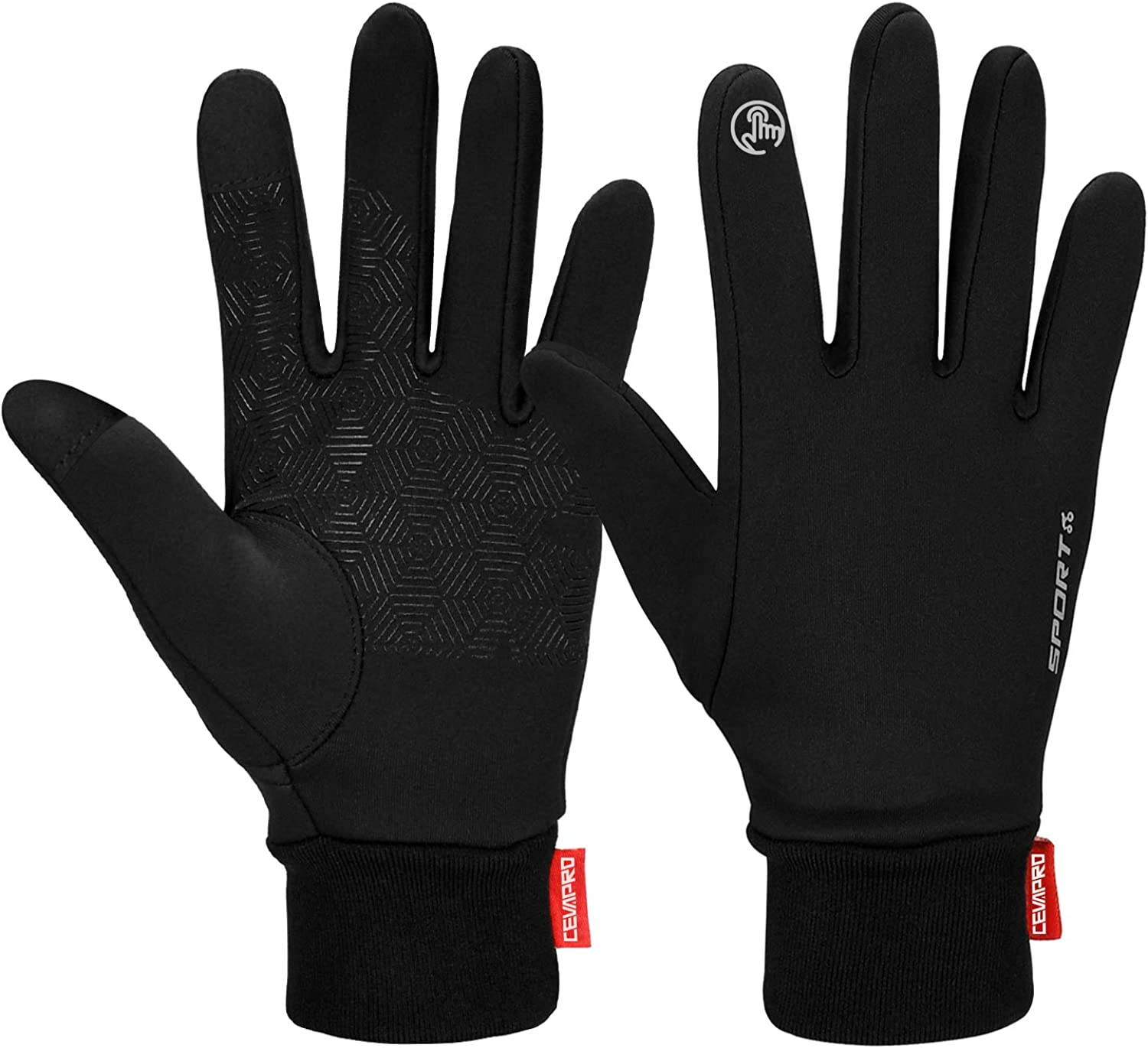 Cevapro Women Winter Gloves Touch Screen Gloves Water Resistant Warm Gloves for Hiking, Running, Driving