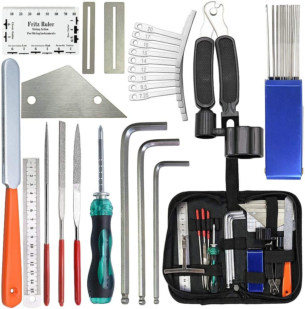 Guitar Repair Maintenance Tool Kit String Fret Measuring Tools for ...
