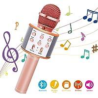 Bearbro Micrófono Inalámbrico Bluetooth,Micrófono Karaoke Bluetooth Portátil