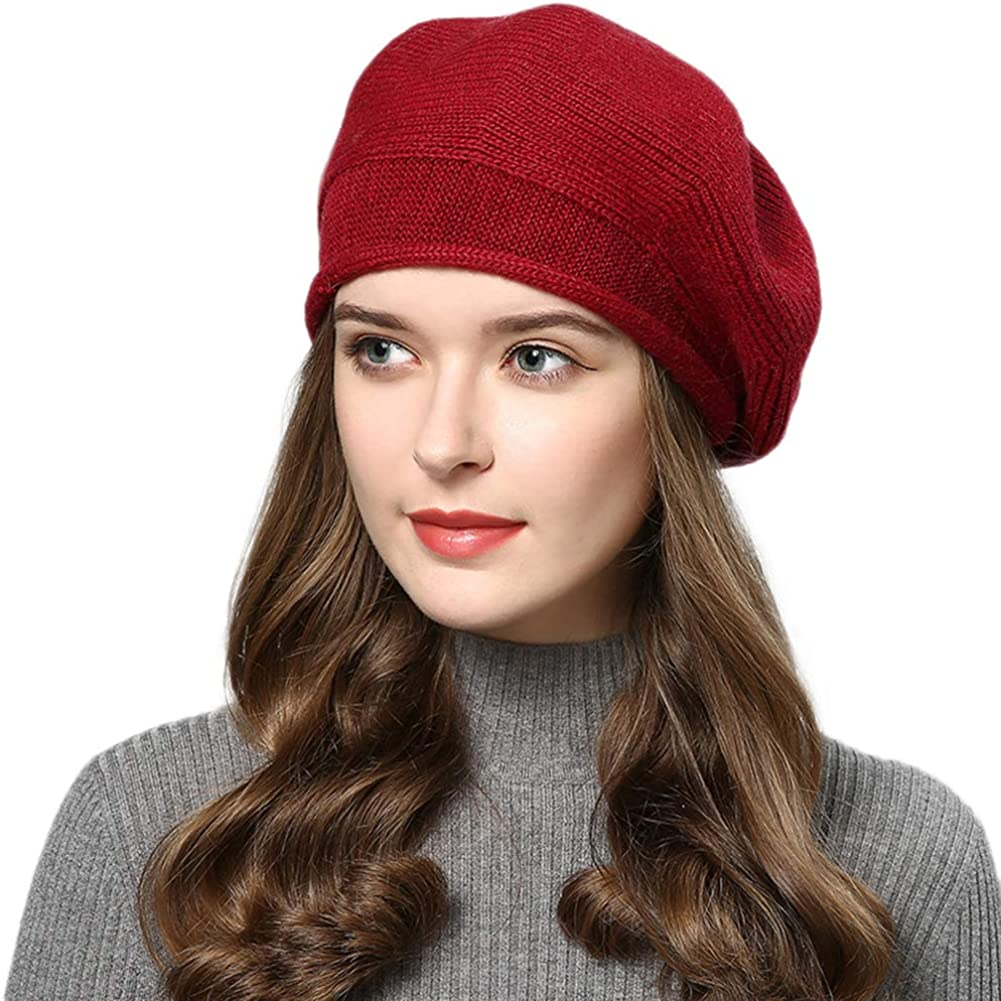 French Beret Hats Knit...