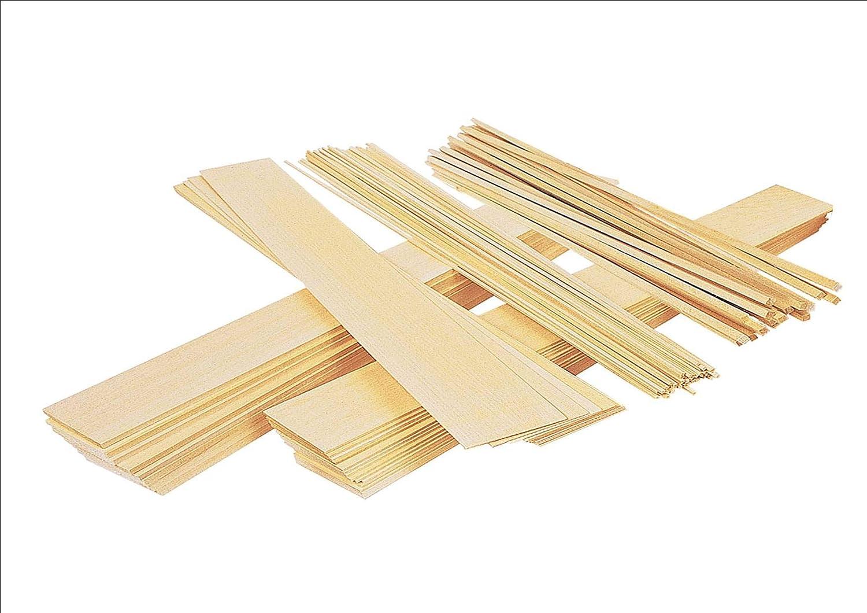 4x 50mm, legno di balsa foglio, 0.8mm spessore, 300mm Lunghezza Innovo