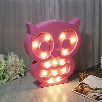 Amazon.com : EA-STONE Light Owl Party Supplies Kids Colorful Lamp ...