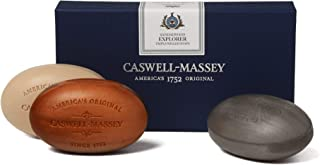 product image for Caswell-Massey Triple Milled Luxury Bath Soap Men's Sandalwood Explorer Soap Set – 3 Assorted Fragrances – 5.8 Ounces Each, 3 Bars