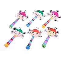 Learning Toys 6'lı Renkli Ahşap Çıngırak Paketi