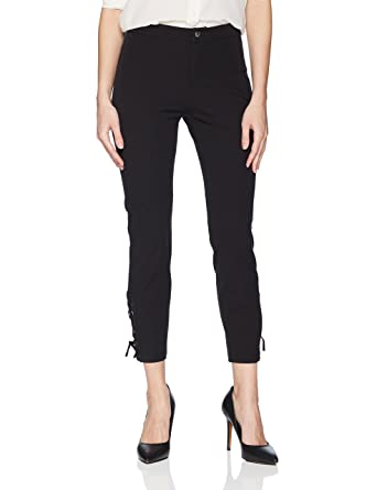9e10614488681f Lyssé Women's Lace Up Stretch Twill Pant at Amazon Women's Clothing ...