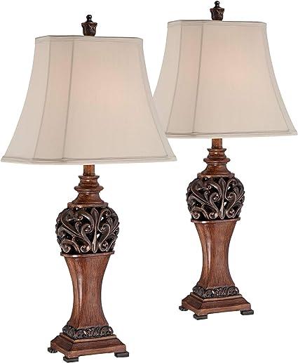 Amazon.com: Exeter - Juego de 2 lámparas de mesa ...