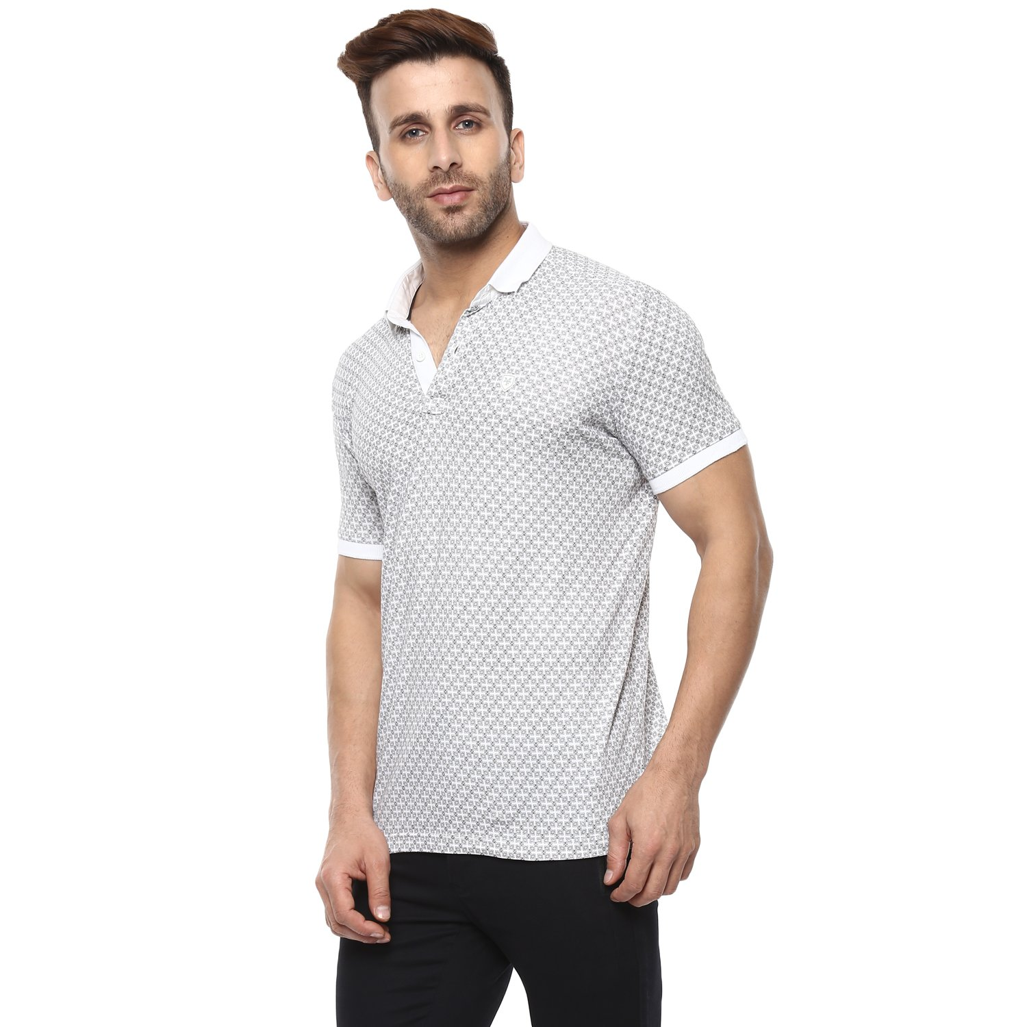 23da922d60a1 Mufti Polo Printed Half Sleeves T-Shirt  Amazon.in  Clothing   Accessories