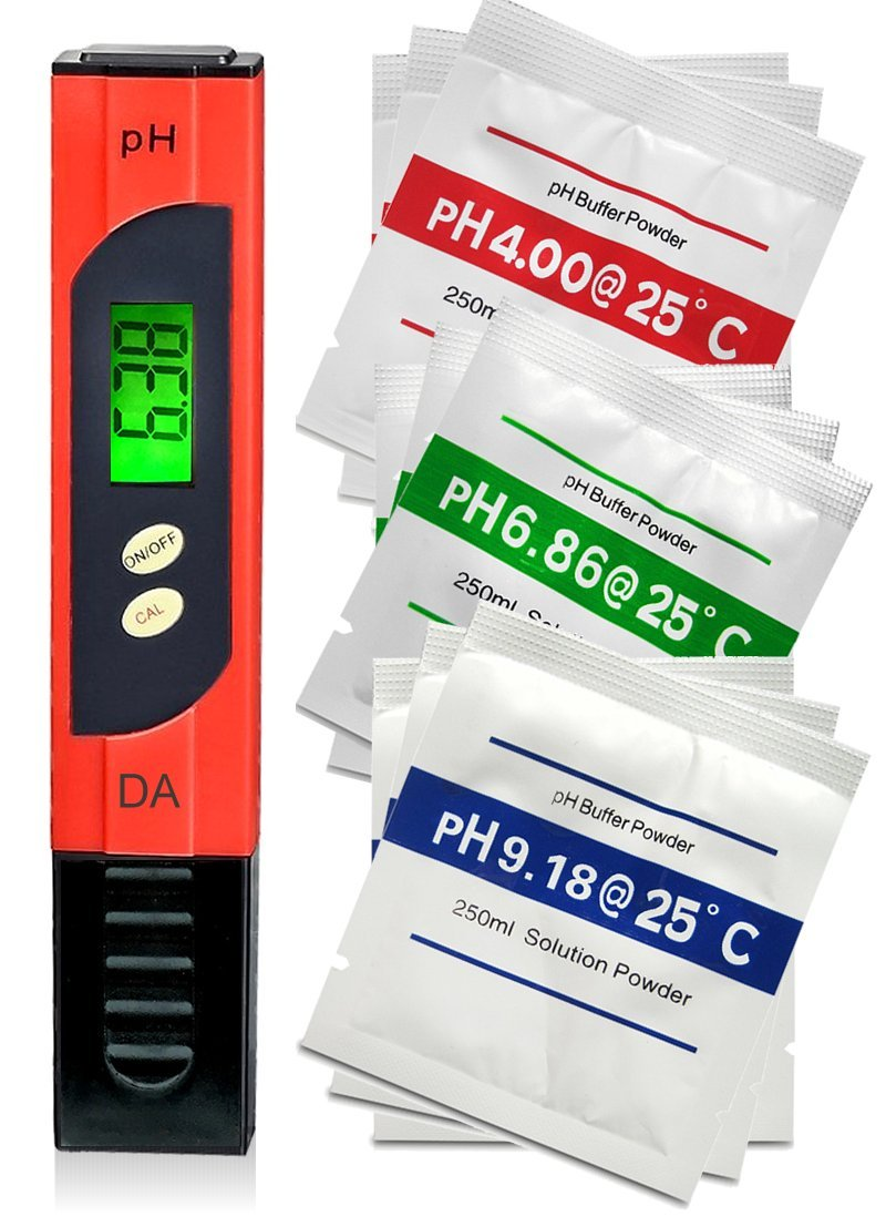 pH Meter. Professional Quality Water Test Meter by Digital Aid - Large Backlit LCD Screen. Range 0.00 to 14.0 pH. 3 Free Buffer Solution Powders. Plus get 6 more - see Promotion below.