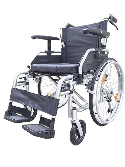 Ultra portátil desmontable de viaje Autopropulsada transporte silla de ruedas con frenos y extra ancho 20