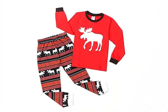 unisex christmas pajamas set santa claus long sleeve red and green stripe pants sleepwear suit for