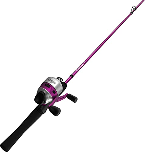 Zebco 33 Cork Micro Spincast Reel and Fishing Rod Combo, Cork Handle, Quickset Anti-Reverse Fishing Reel with Bite Alert