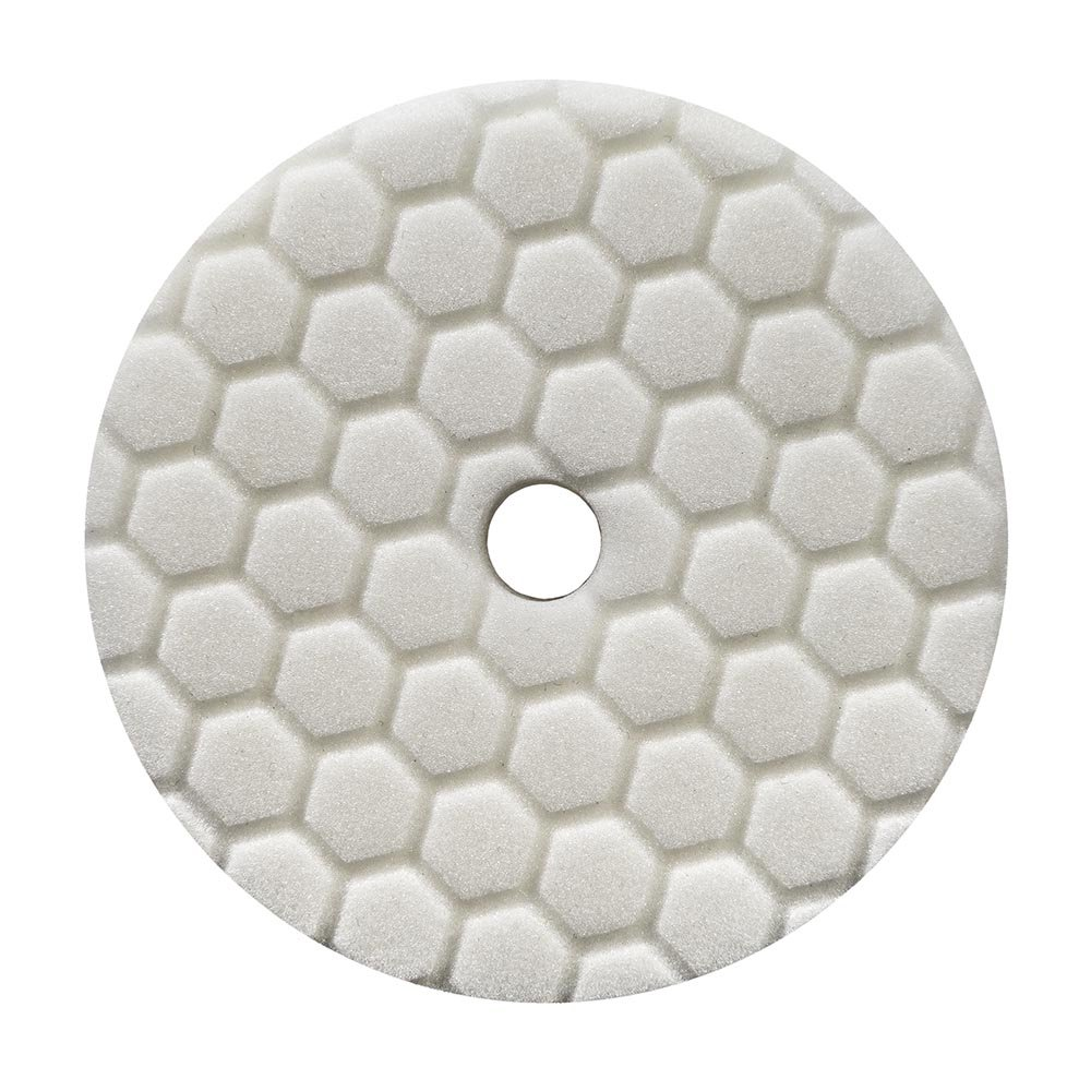 Chemical Guys BUFX114HEX6 Hex-Logic Quantum Light-Medium Polishing Pad, White (6.5 Inch)