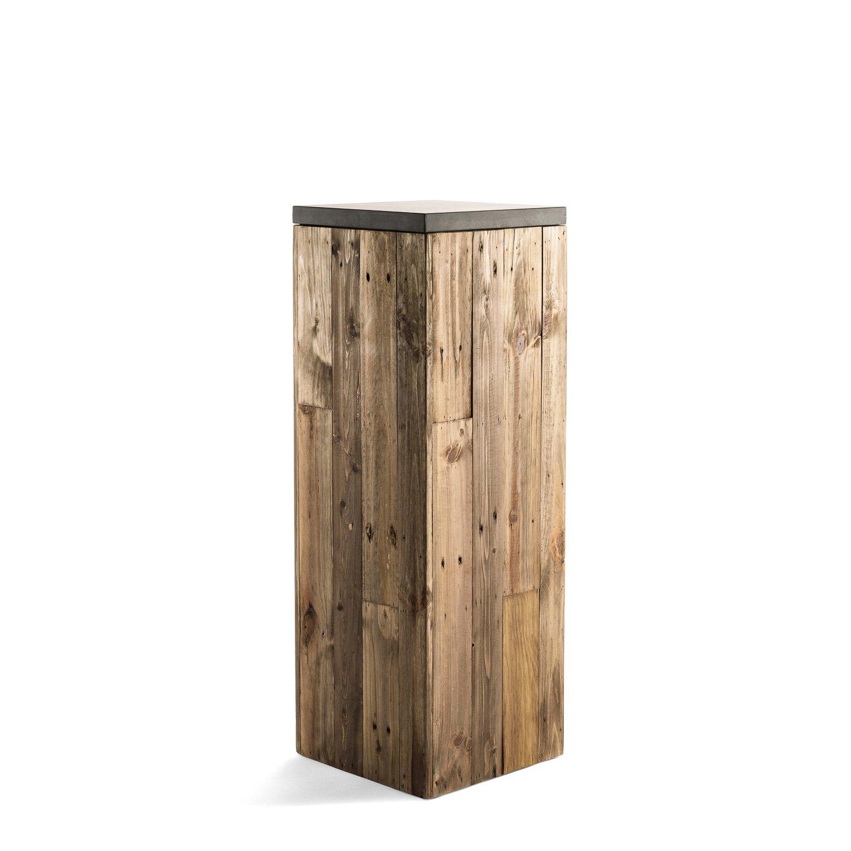 pflanzs ule woodline high pillar dark flame wood eckig hoch holz f478. Black Bedroom Furniture Sets. Home Design Ideas