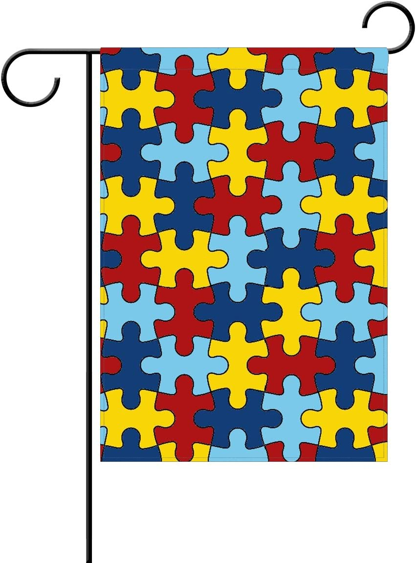 Coolstuffs Autism Awareness Garden Flag 12 X 18 Inch 100 Polyester Home Decor Flag Garden Outdoor