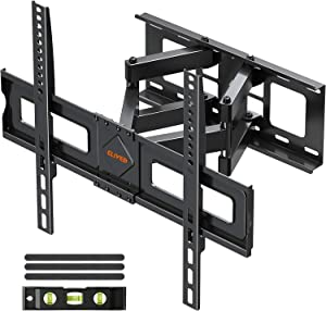 TV Wall Mount Swivel and Tilt Full Motion TV Mount for 37-70 Inch Flat Screen TVs, TV Wall Mounts Bracket with Articulating Swivel Dual Arms, Max VESA 600x400mm, 99 lbs. Loading, Fits 16