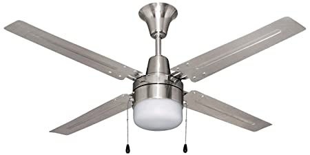 Craftmade Ceiling Fan with Light BEA48BNK4C1 Beacon 48 Inch, Brushed Chrome