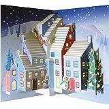 Forever Handmade Cards POP111 di Natale Pop Ups-Santa & Laser, motivo: biglietto di auguri Pop-Up