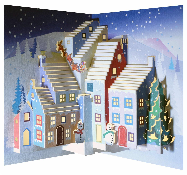 Forever Handmade Cards POP111 di Natale Pop Ups-Santa & Laser, motivo: biglietto di auguri Pop-U
