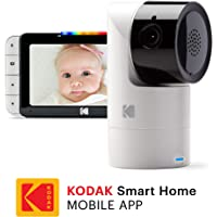 """KODAK Cherish C525 Video Baby Monitor with Mobile App - 5"""" HD Screen - Hi-res Baby Camera with Remote Tilt, Pan and Zoom, Two-Way Audio, Night-Vision, Long Range - WiFi Indoor Camera"""