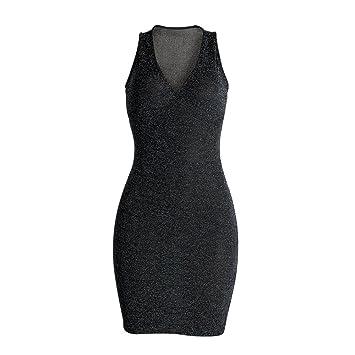 swall owuk Mujeres Tiefes V Vestido Vestido, Fiesta Vestido Negro azul azul large