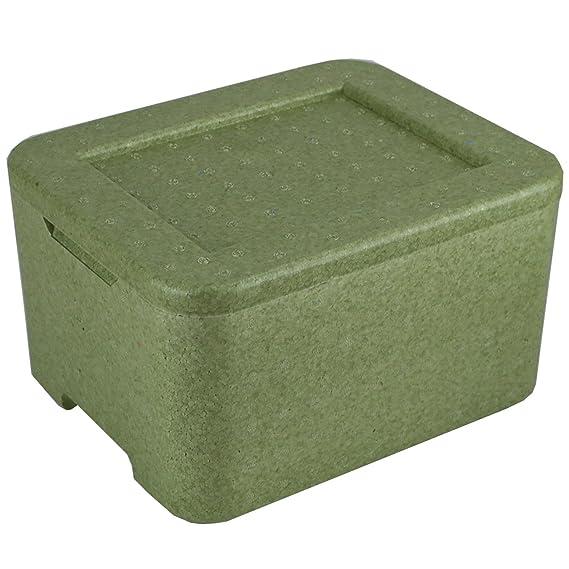 W3 Thermobox ? Styropor grün ? Transportbehälter ? MENÜBOX für 3 Menü