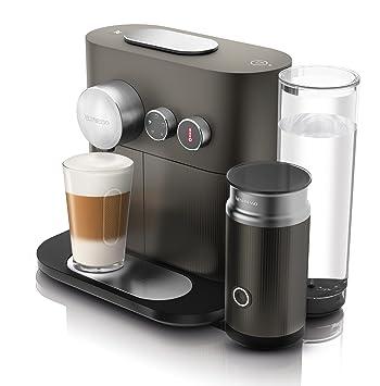 Nespresso DeLonghi Expert Milk EN355.GAE - Cafetera monodosis de cápsulas Nespresso con