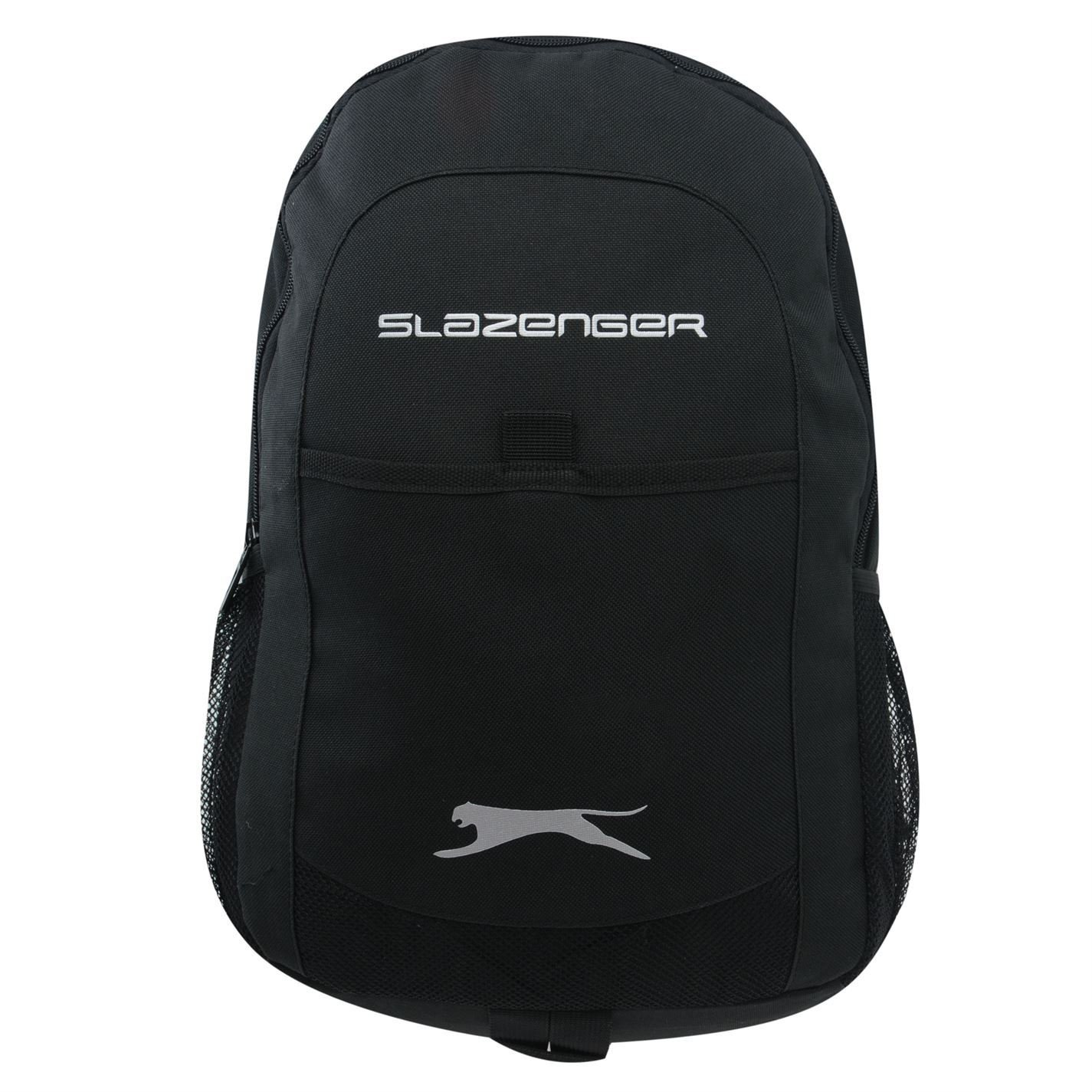 6ae139468c0 Slazenger Tech Backpack Rucksack Bag School Travel Accessory Brand New Black  One Size: Amazon.co.uk: Luggage