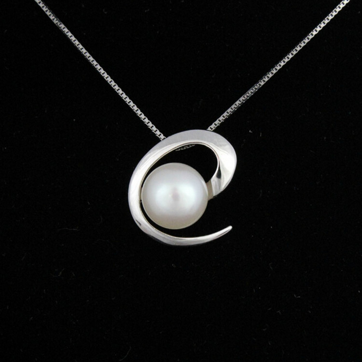 MMC Womens Necklaces Pendants Pearl Gift Silver Jewelry