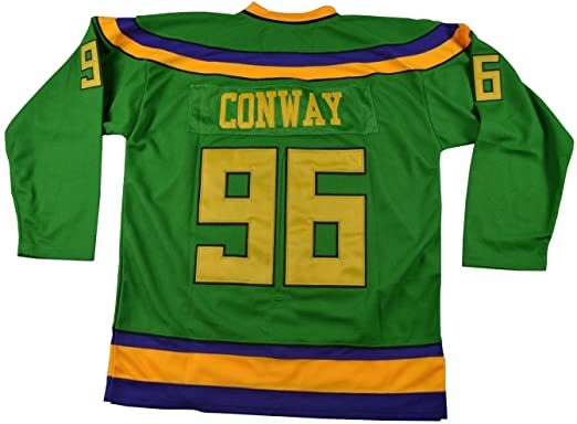 Amazon.com  Kooy Charlie Conway  96 Mighty Ducks Movie Hockey Jersey ... ed123f9c228