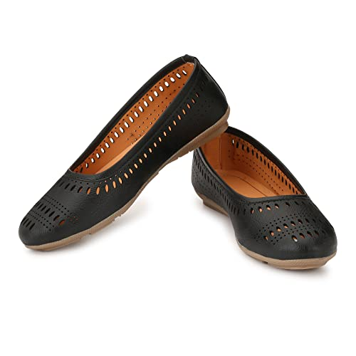 d91c1929d AlexaStar Women Flat Belly Shoes Comfortable Slip On Pointed Toe Girls  Ballet Flats Bellies Ballerinas  Buy Online at Low Prices in India -  Amazon.in