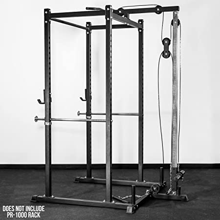 Rep LAT Pull Down Low Row Accessory for 1000 Series Power Racks – Attachment for PR-1100 and PR-1000 Weight Cages