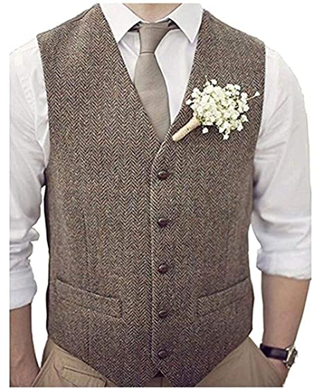 select for latest how to serch choose best Hvjm Wedding Vest for Men Groom Vest and tie Groomsmen Suit ...