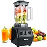 Aicok Blender 1500W Professional High Speed Blender 25,00000rpm Commercial Smoothie Mixer Heavy Duty Food Processor for Ice, Soup, Mincemeat, Nut butter with 70oz Large Tritan Pitcher, Black