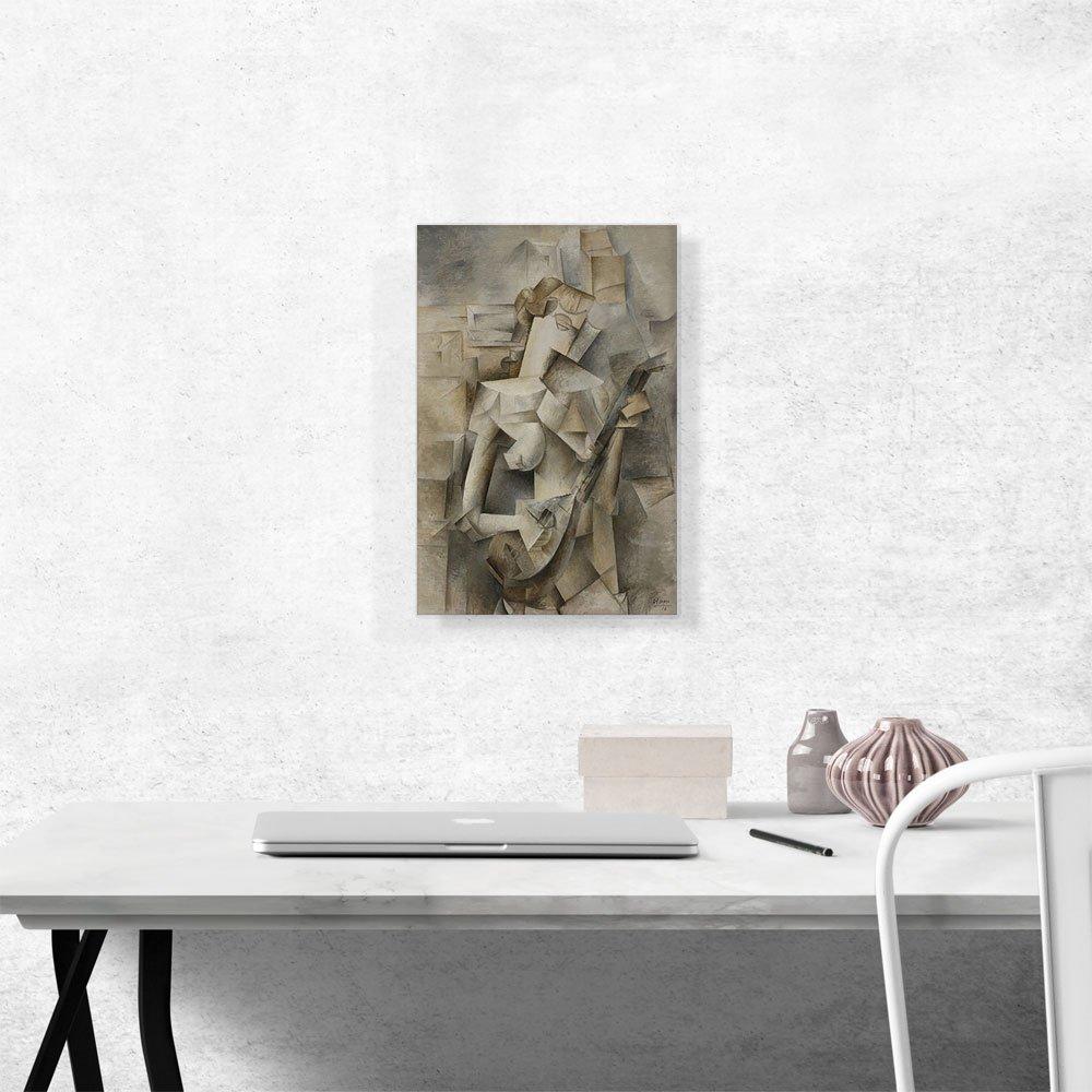 ARTCANVAS Girl with a Mandolin 1910 Canvas Art Print by Pablo Picasso – 18 x 12 0.75 Deep