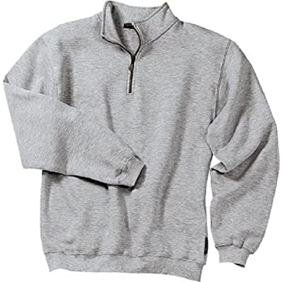 Sport-Tek 1/4 Zip Sweatshirt, Athletic Heather, Large