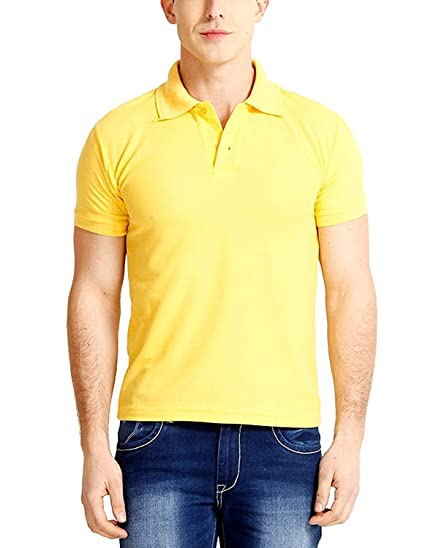 25ff30c634214 NOW   WOW Men s Comfort Solid Polo Collar Half Sleeve T-Shirt (Available in  many colours)  Amazon.in  Clothing   Accessories