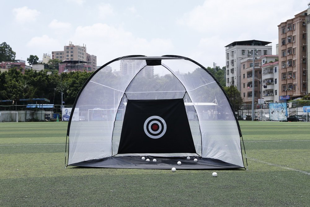 Golf Net Portable Pop Up Hitting Nets With Chipping Target - Perfect Size to Practice Your Accuracy Indoor & Outdoor