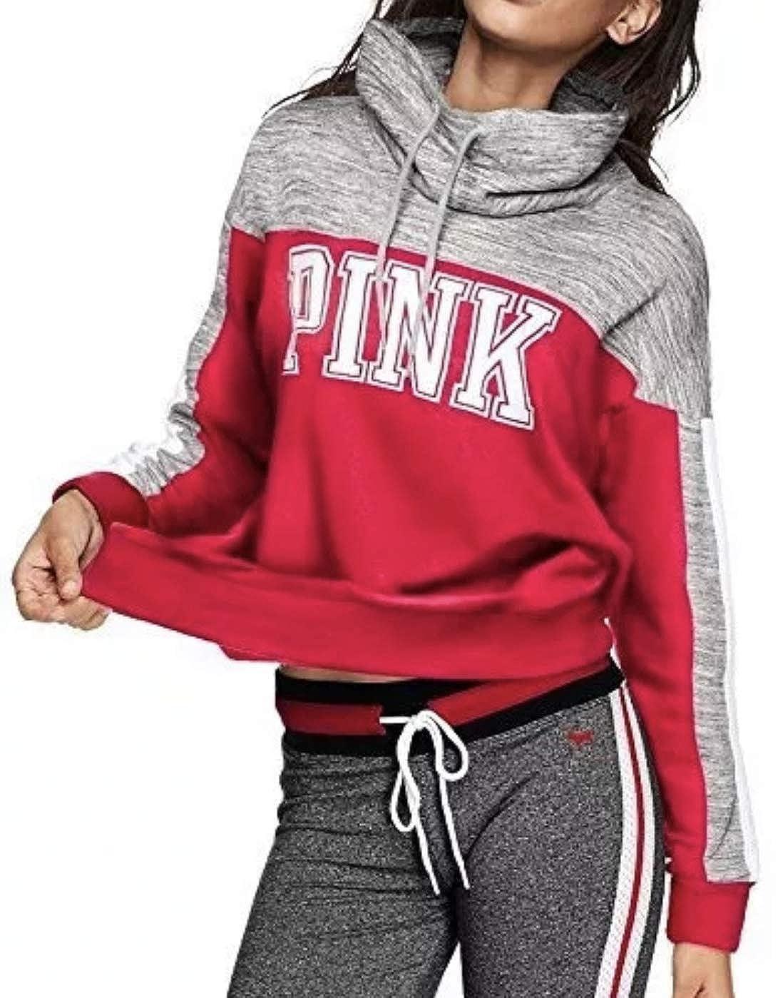 Amazon.com Pink Victoria\u0027s Secret Logo High,Neck Cowl