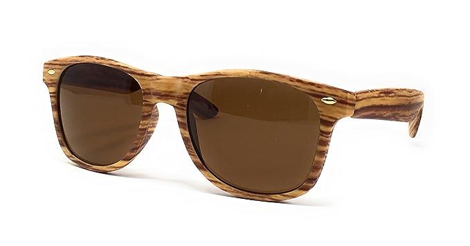 Sonnenbrille im Stil der 50er, Texture Collection, Holz Gr. Einheitsgröße, Blonde/Brown