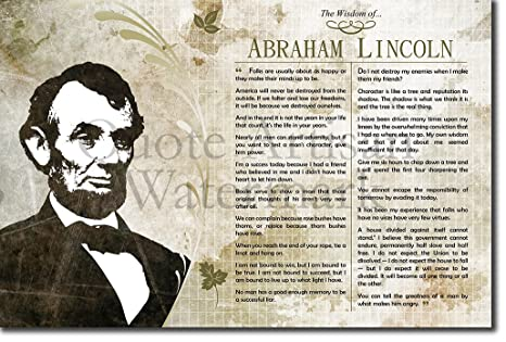 Amazon Com The Wisdom Of Abraham Lincoln Poster Featuring