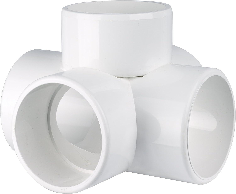 "5-Way PVC CROSS 3//4/"" 50 PACK  Heavy Duty PVC Furniture Fitting  5WAY PVC CROSS"