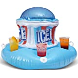 Icee Inflatable Pool Drink Holder Cooler with Zippered Ice Compartment for Kids and Adults - Floating Cooler Holds 6…