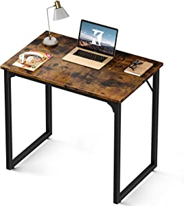Coleshome Computer Small Student School Writing Desk 31 inch,Work Home Office Desk for Small Space, Study Kids Vintage Desk