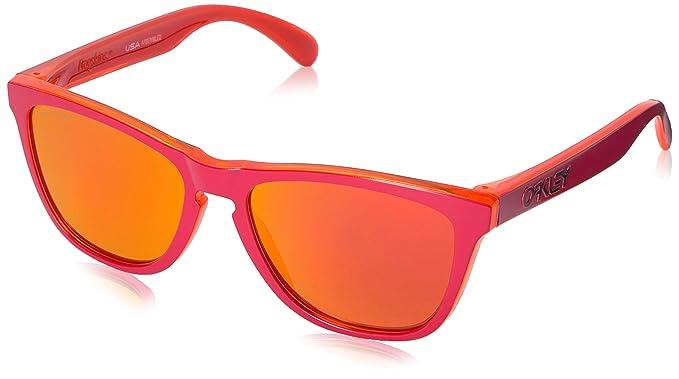 6e173477b2 Oakley FROGSKIN Matte lunettes rouges Rubis Prizm: Amazon.fr ...