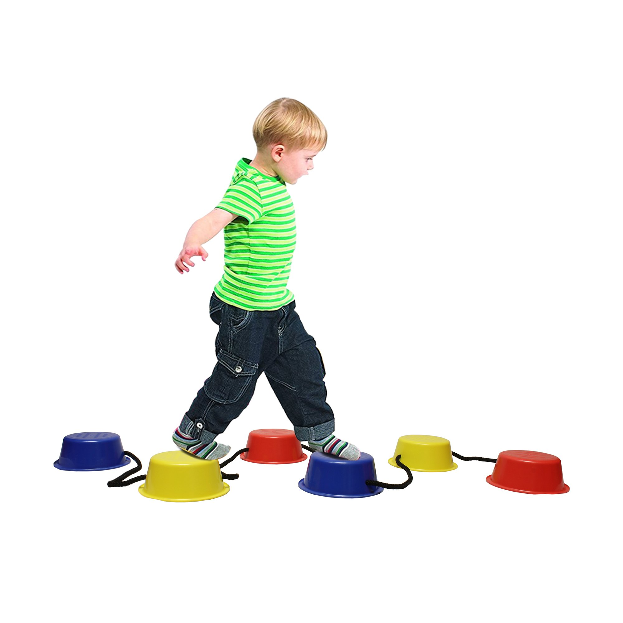 Get Out! Kids Stepping Buckets 6-Pack – Balance and Eye Coordination Toy Training Tool for Children & Physical Therapy